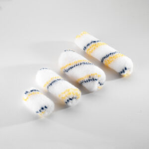 LITTLE ROLLERS YELLOW BLUE STRIPE (100% NYLON) SUITABLE FOR POLYESTER 45